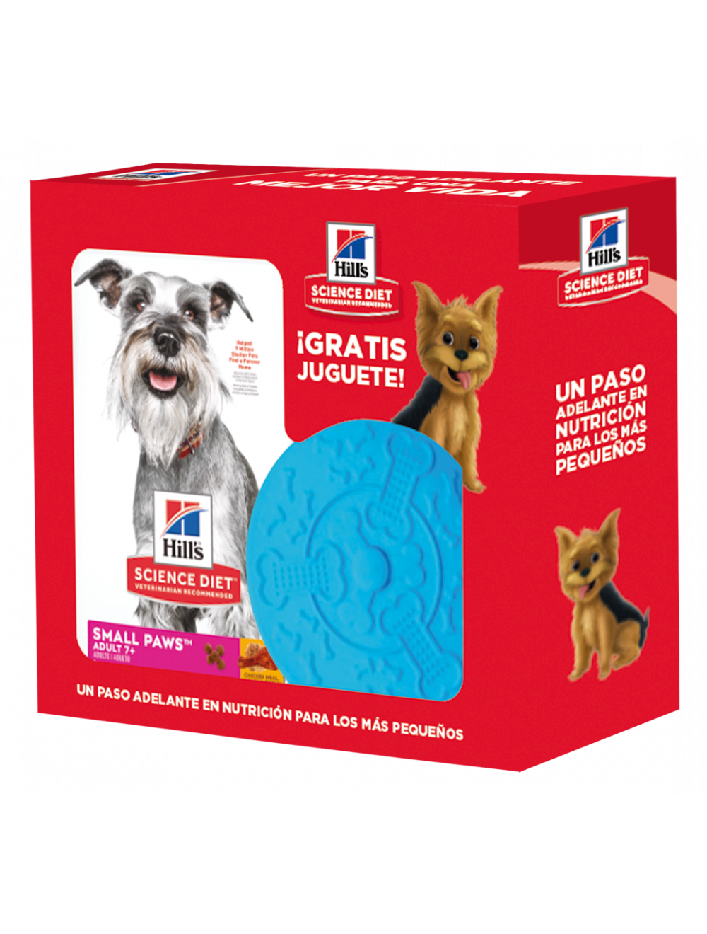 Hills small and toy breed mature 2 kg + FRISBEE-Ciudaddemascotas.com