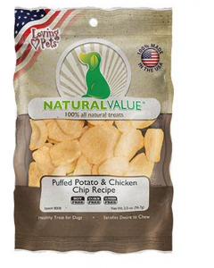 NATURAL VALUE Puffed Potato & Chicken Chip Recipe X 56.7 GR