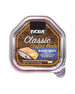 EVOLVE Cat Classic Pote Crafted Meals Seafood Medley 99 GR