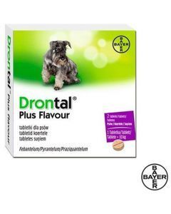 Desparasitante Drontal PS tabletas X 2 - Ciudaddemascotas.com