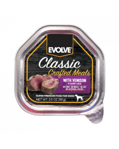 EVOLVE DOG CLASSIC POTE CRAFTED MEALS VENADO 99 GR
