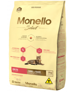 Comida para gato Monello Select Cat Adulto Carne-Ciudaddemascotas