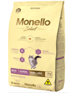 Comida para gatos Monello Select Cat Castrado - Ciudaddemascotas
