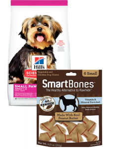 Hills Combo Small & Toy Breed 2 Kg + Smartbones Peanut Butter