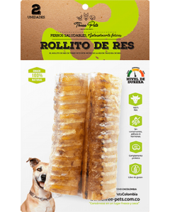 Snacks para perro Three Pets Rollitos de Res-Ciudaddemascotas