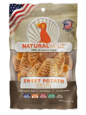 NATURAL VALUE Sweet Potato Krisps X 71 GR