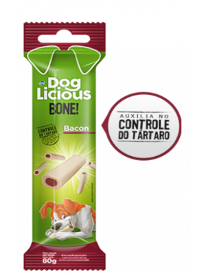 DOG LICIOUS BONE BACON 80GR