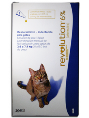 Revolution 6% Para Gatos 2.6 a 7.5 kg 0.75 ml